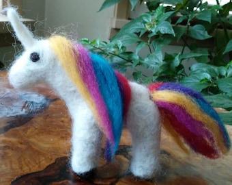 Handmade Felted Unicorn