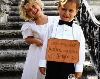 1x Engraved Wooden Page Boy Flower Girl Signs