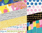 """Bella Blvd - Make Your Mark - 6""""x8"""" Paper Pad With Gold Foil - 24 Sheets - MYM1618"""