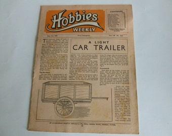 Hobbies weekly vintage magazine May 3rd 1950 Ephemera