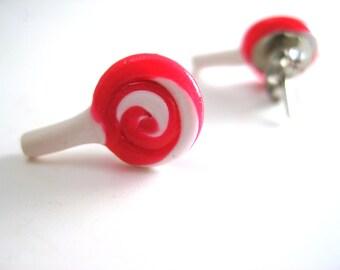 Polymer Clay Earrings| Stud Earrings| Handmade Earrings| Pink Lollypops