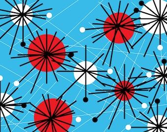 vintage starburst pattern printable