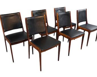 Andersen Rosewood Dining Chairs Mid Century Danish Modern