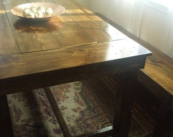 Farmhouse Table//2 Benches