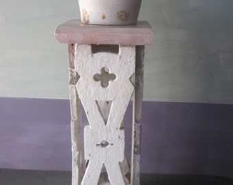 Plant Stand / Small Table / Porch Stand / Shabby Stand / Shabby Plant Stand / Recycled Stand / Salvaged Wood Stand / Reclaimed Wood Stand