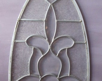 Leaded Glass/Glass/Accent Glass/Art Glass/Handmade Glass/Traditional Glass/ Art/ Old Glass/ Old Leaded Glass/ Vintage Glass