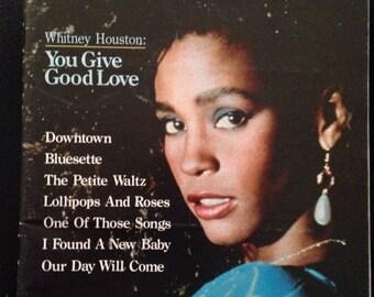 Whitney Houston on Sheet Music Magazine 1989