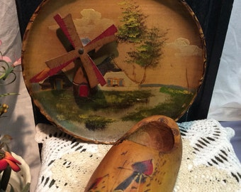 Vintage Painted Wooden Set from Holland