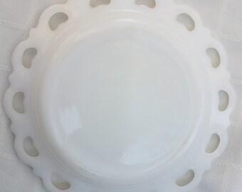 Small White Milk Glass Plate
