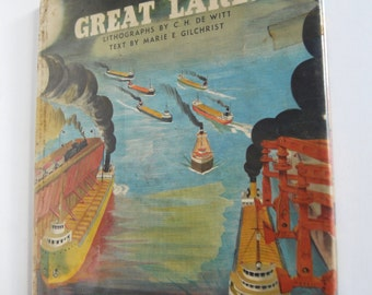 Vintage Children's Book, The Story of the Great Lakes