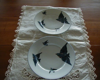 Lovely Blue Bird Plates measuring 7 1/4 inches and Marked Victoria Austria Blue Bird.  There are 2 available, priced each.