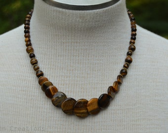 Tiered Golden Tiger's Eye Bead Necklace