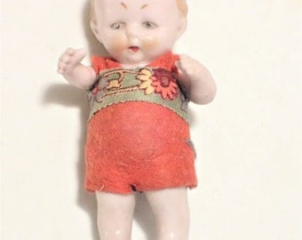 Adorable Bisque Baby Doll With Moveable Arms