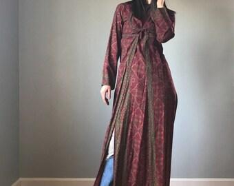 60s BATIK print Indian tunic dress | Indian cotton tunic dress | printed cotton tunic dress