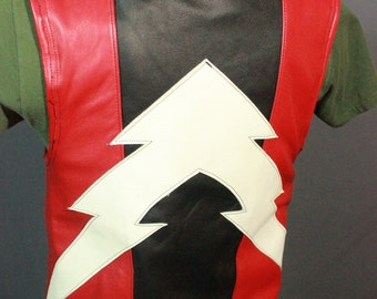 Amazing Black and Red Motorcycle Vest