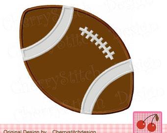 "Football Sports Machine Embroidery Applique Design - 4x4 5x5 6x6"" SPORT014"