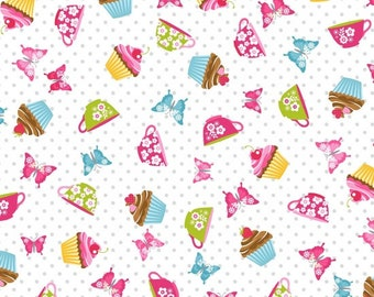 Cupcake Cafe by Laura Stone for Studio E Fabrics - Birthday-Cupcake-Cake Fabric Arriving August 2017