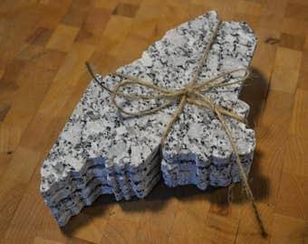 Maine Shaped Granite Coaster Set - Set of 4