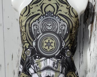 Stormtrooper Samurai Top - Size 8/10 - Vest Summer Alternative Star Wars Comic Book