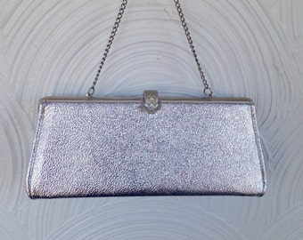 1960s Silver Evening Bag