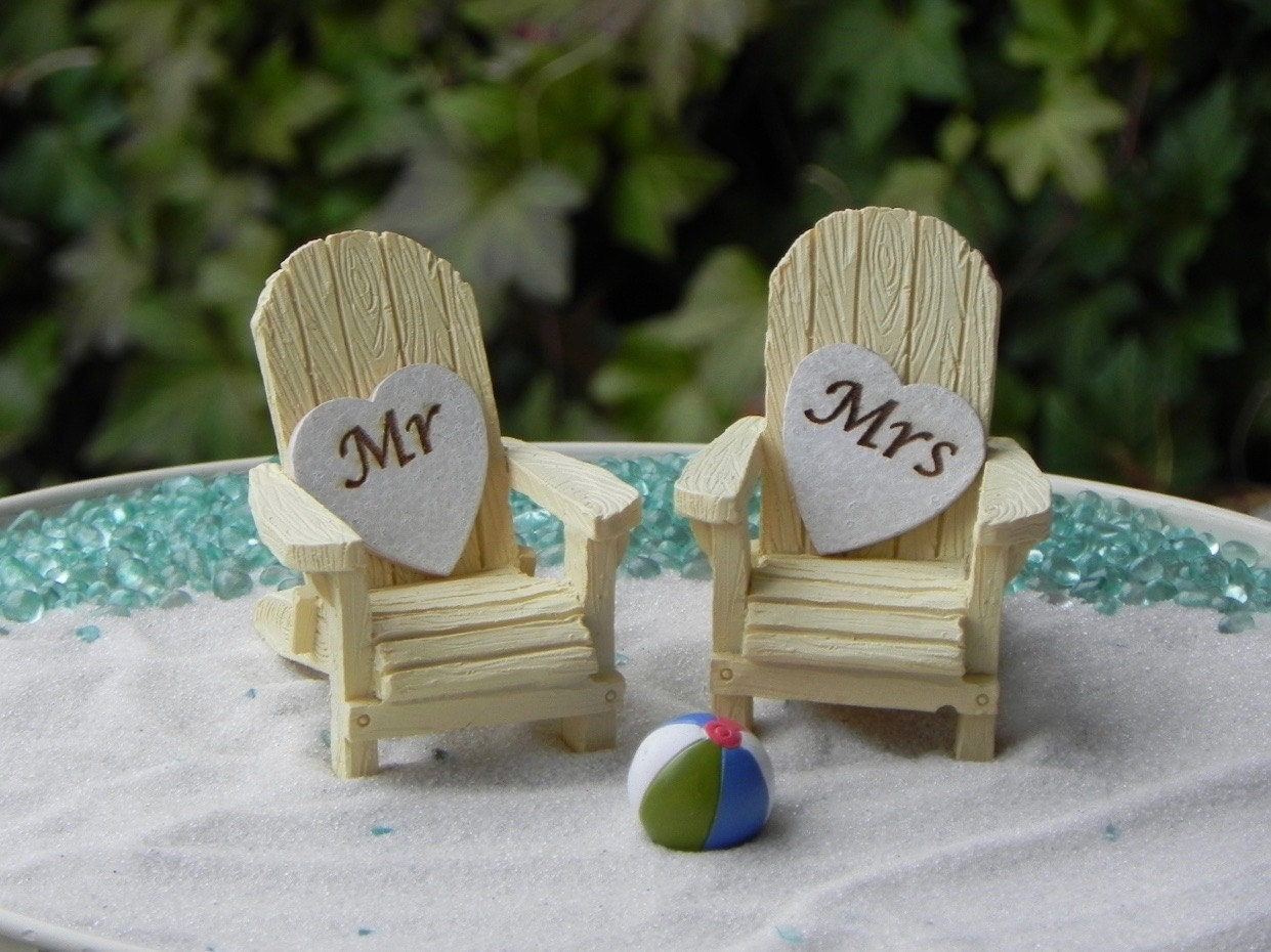 Miniature Adirondack Chair Mr And Mrs Heart Signs Cake