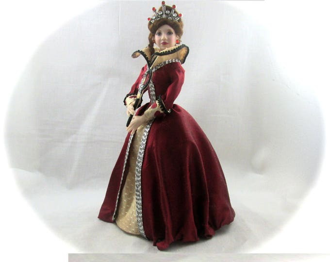 Dollhouse Doll QUEEN of HEARTS Doll Pattern and Instructions PDF Miniature Dollhouse 1:12 Scale Instant Download diy