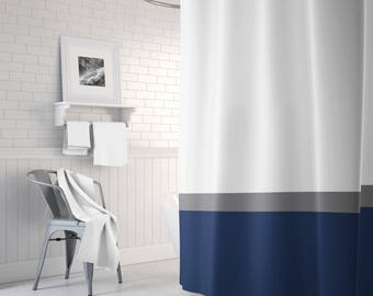 white and navy shower curtain. White And Navy Shower Curtain Home Design Plan Wonderful Gallery  Exterior Ideas 3D