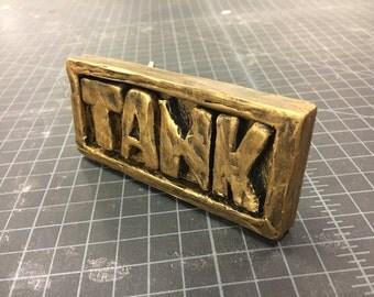 Tank Girl comic style belt buckle