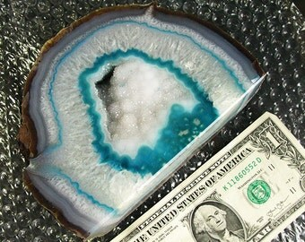 Very Large Heavy Agate Druzy Crystals - Minerals Lapidary Agates Healing Specimens Rocks