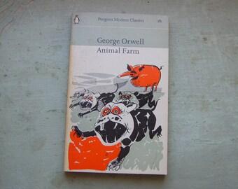 A Vintage 'Animal Farm' George Orwell Paperback Book - Penguin Classics - 1960's.