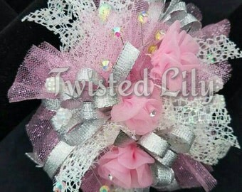 Pretty in Pink wrist corsage