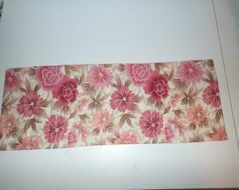 Neck Flaxseed Heating Pad, Cold Pack, Lower Back, Medium Sized, Flax Seed Relaxation Bag, Flowers, Pink Flowers