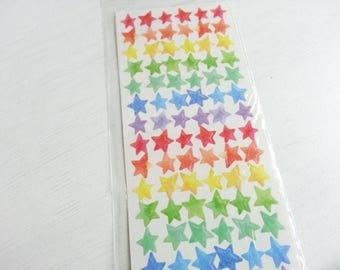 Rianbow Star Sticker - 1 Sheet