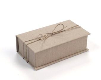 USB Box Jute 5.5 x 10.5 cm, Gift box