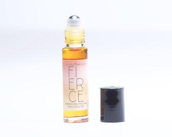 FIERCE naturally tingling tinted roll-on lip gloss / moisture treatment • vegan • <.35oz>