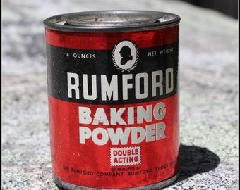 Vintage Rumford Baking Powder Tin still full (unopened)