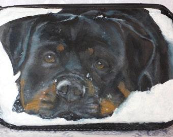 Custom Cooler Painted Portrait of Your Pet - Black Nylon Cooler