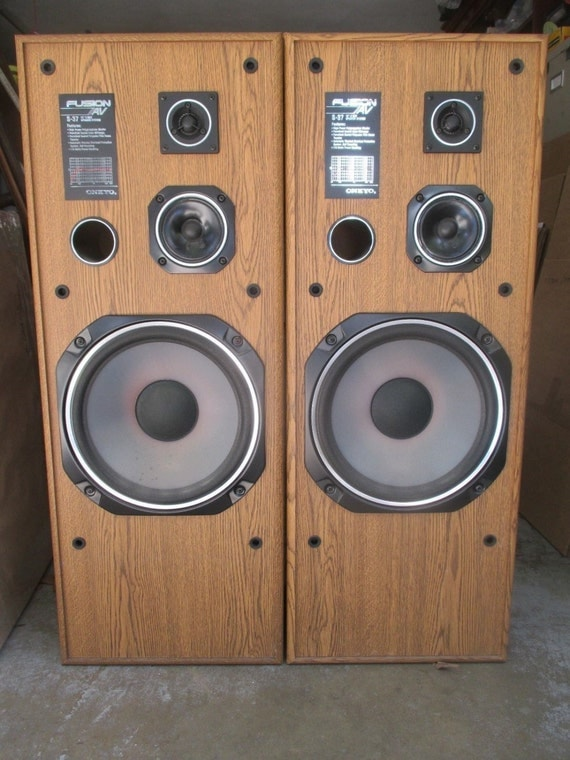 Pair Onkyo S37 Fushion Audiophile Floor Speakers Tested Sound
