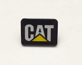 CAT Pin - Lapel Pin / Tie Tack / Hat Pin - Costume Jewelry - Collectible Pin