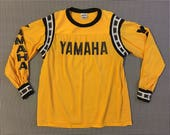 1980's, Yamaha, net, jersey, in yellow and black, Adult size Medium