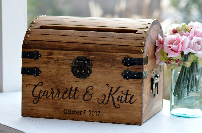 Large Keepsake Box Wooden Box Wedding Card Box Wooden |Wooden Chest For Wedding Cards
