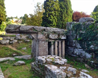 Etruscan Ruins - Fiesole - Florence - Travel Photography - Roman Architecture- Archaeology - Wall Art - Home Decor - Decor - Bedroom