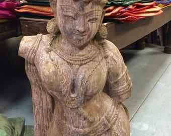 Antique Apsra Sand Stone Garden Decor Statue