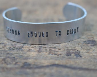 Strong Enough to Break - Hanson Lyric Bracelet