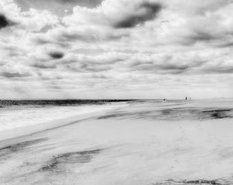 Cape May NJ Fine Art Photography, Nautical Art Print, Jersey Shore Art, Beach House Decor, Cabin Decor, Black and White, Coastal, Coastline