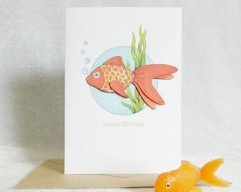 Goldfish Birthday Card