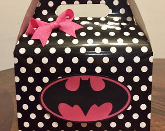 Batman/Batgirl favor boxes