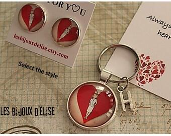 Nurse Post Earrings Stud Earrings or Nurse Keychain