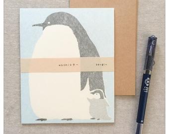 Japanese Stationery Letter Writing Set - Penguin Design by Furukawa Shiko