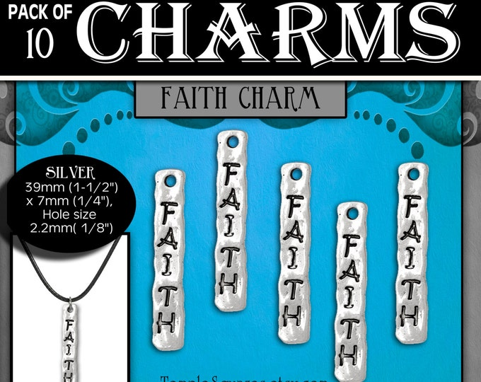 Faith Charms or necklaces - Silver YW 2017 Ask of God Ask in Faith LDS Jewelry Craft Supplies DIY Choker, Pendant, Necklace, Bracelets, Gift